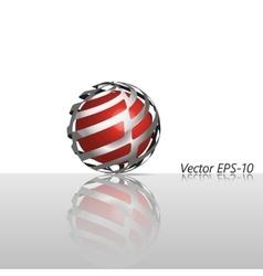 Abstract glass hi-tech sphere logo icon vector image vector image