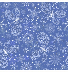Christmas repeating pattern vector image vector image