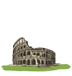 Colosseum Rome Italy vector image