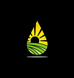 ecology bio nature abstract logo vector image