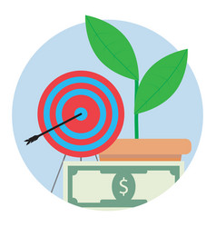 financial target icon vector image