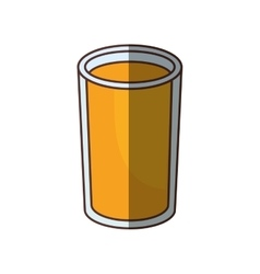 glass cup juice drink shadow vector image