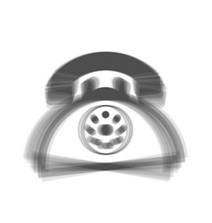 retro telephone sign gray icon shaked at vector image vector image