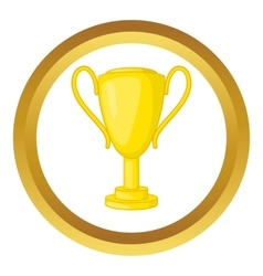 Winner trophy cup icon vector image vector image