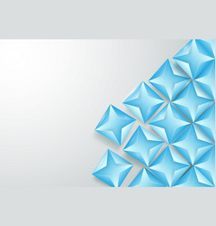 abstract blue triangles background vector image vector image