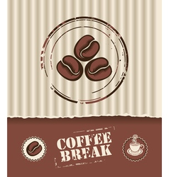 coffee board vector image