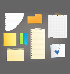 Collection of paper notes of vector