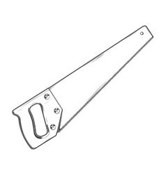 Handsaw vector image vector image
