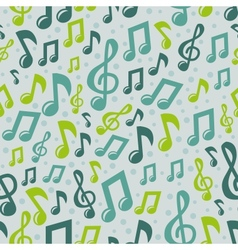 music seamless pattern with icons vector image