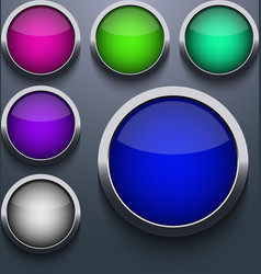 web button set design on gray background Eps10 vector image