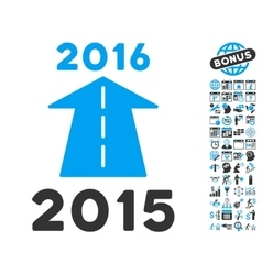 2016 Future Road Flat Icon With Bonus vector image