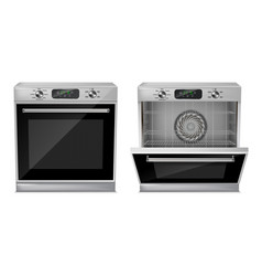 3d realistic compact built-in oven vector