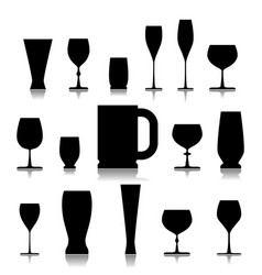 A glass of drink vector
