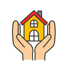 Affordable housing color icon shelter vector