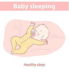 basleeping with pacifier healthy sleep vector image