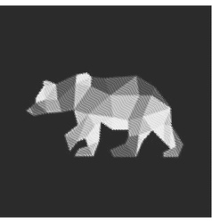 Bear polygon animals engraved fully vector image