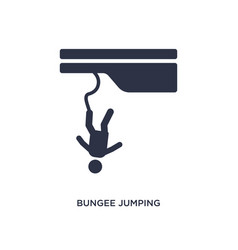 Bungee jumping icon on white background simple vector