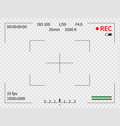 camera viewfinder viewer focus frame record vector image