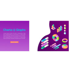 charts and graphs growth diagram presentation vector image