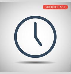 clock icon time icon eps 10 vector image