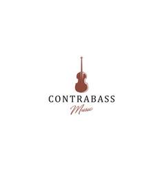 Contrabass logo design - minimal modern vector
