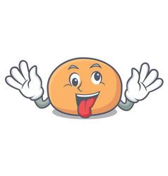 Crazy mochi mascot cartoon style vector