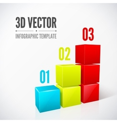 Cubes 3D infographics modern design layout vector image