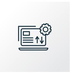 data management icon line symbol premium quality vector image