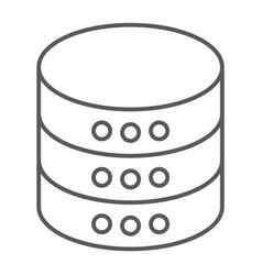 Database thin line icon data and analytics vector