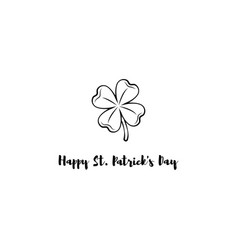 design banner on st patrick s day clover vector image