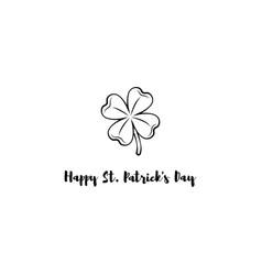 design banner on st patrick s day clover vector image