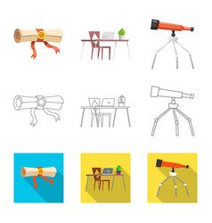 Design of education and learning icon vector