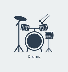 drums icon logo element vector image