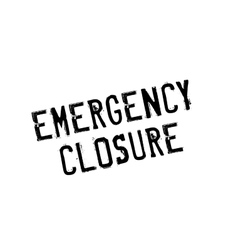 Emergency Closure rubber stamp vector