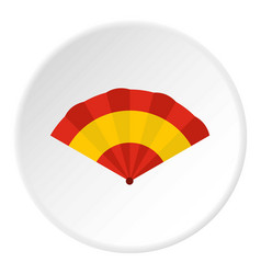 fan icon circle vector image