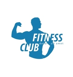fitness logo design template sport or gym vector image