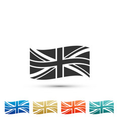flag of great britain icon on white background vector image