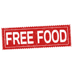 Free food sign or stamp vector