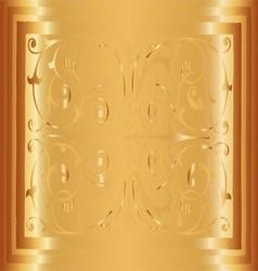 Gold Floral Luxury Ornamental Pattern Background V vector
