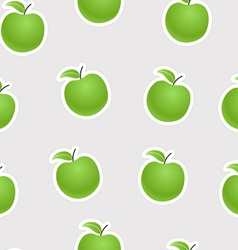 Green apples seamless background vector image