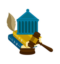 group of different law icons vector image