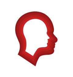 Head icon for schizophrenia vector