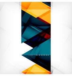 Hi-tech geometric futuristic business background vector
