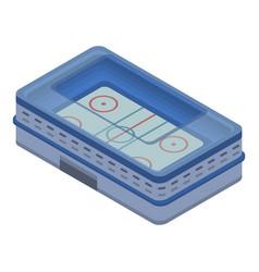 Ice hockey arena icon isometric style vector