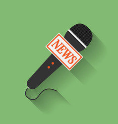 Icon of Microphone Press or News microphone Flat vector image