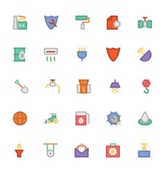 Industrial Colored Icons 4 vector