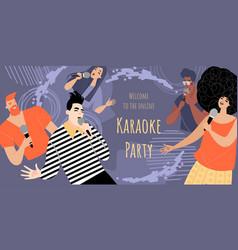 invitation banner template for online karaoke vector image