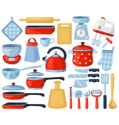 Kitchen dinnerware kitchenware and tableware vector