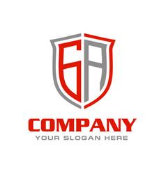Letter ga logo design vector