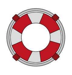 Lifeguard float icon vector